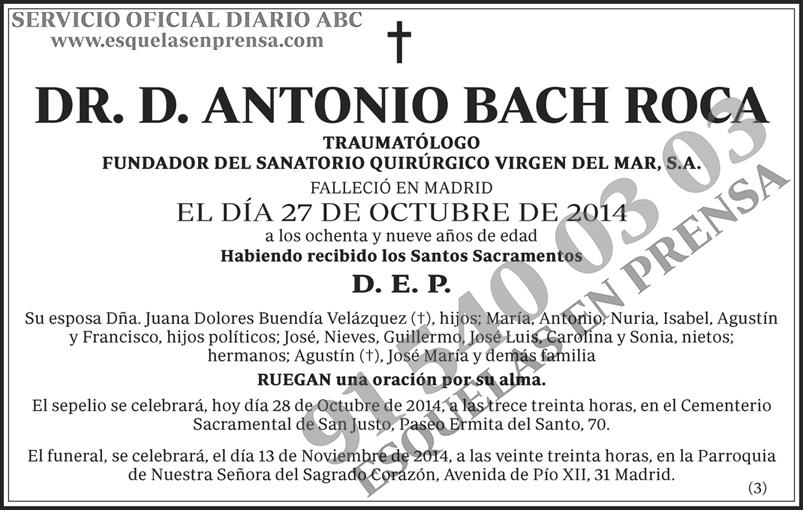 Antonio Bach Roca